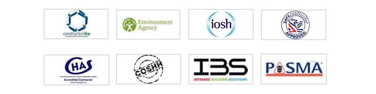 Hy5 Commercial Cleaning Ltd Accreditations | B&ES | Constructionline | Environment Agency | IOSH | Safe Contractor | CHAS | COSHH | IBS | PASMA