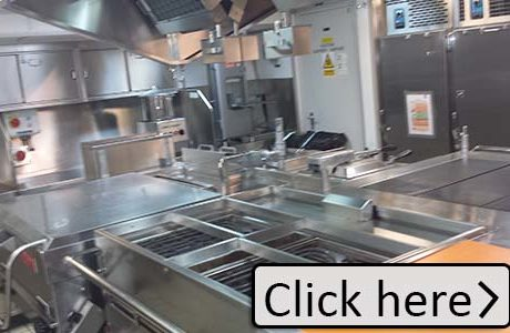 commercial Kitchen after being deep cleaned